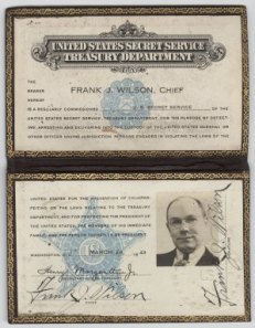 Frank J. Wilson's Secret Service badge