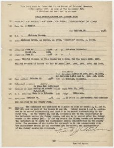 Trial report for Al Capone