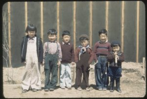Photograph of children at Heart Mountain (circa 1942-1944), from Bill Manbo Papers