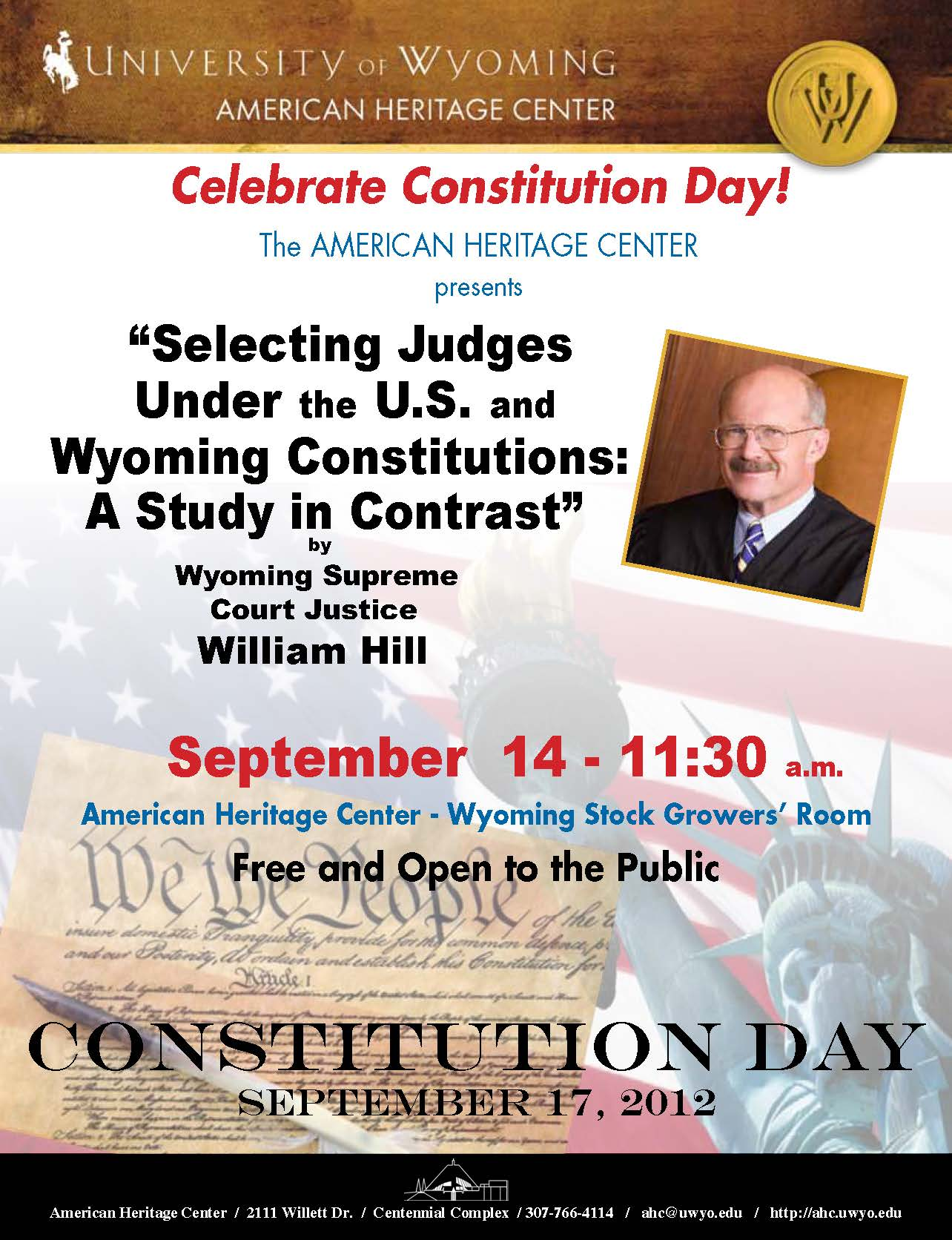 celebrate wyoming constitution day american heritage center ahc news. Black Bedroom Furniture Sets. Home Design Ideas