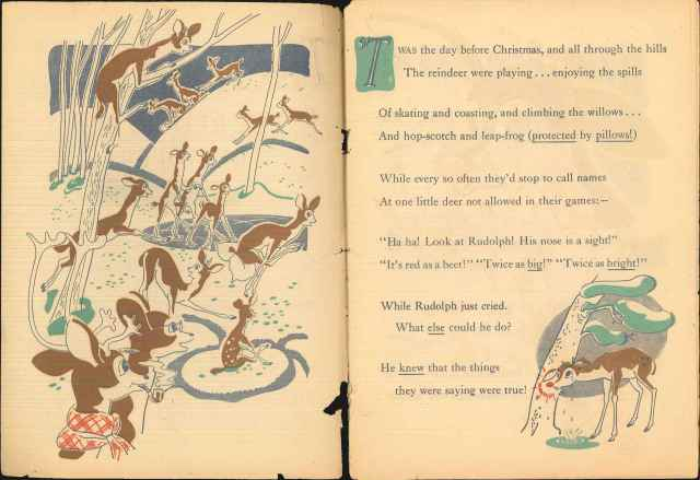 First pages of the illustrated poem by Robert May. Montgomery Ward records, Collection # 8088, Box 44, Folder 3.  American Heritage Center, University of Wyoming.
