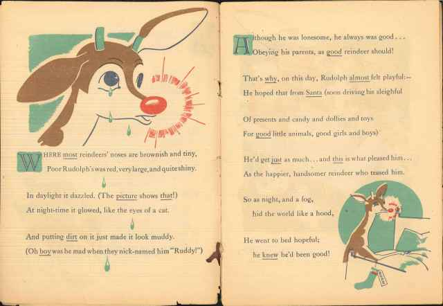 The poem continues with Rudolph's self-consciousness . . . Montgomery Ward records, Collection # 8088, Box 44, Folder 3.  American Heritage Center, University of Wyoming.