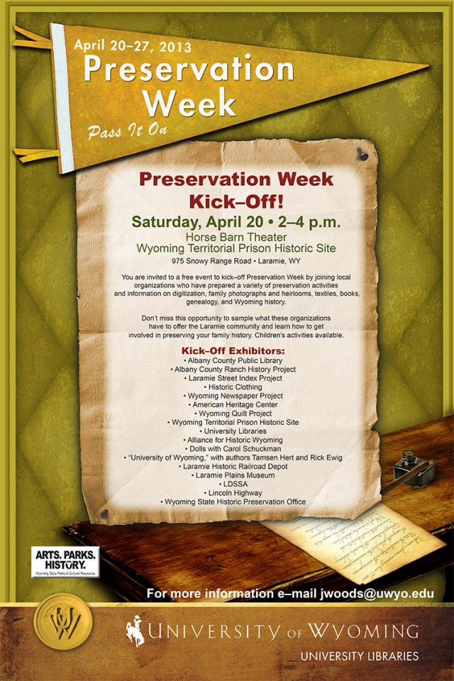 Join us for the Kick-Off event on April 20th at the Horse Barn Theater on the campus of the Territorial Prison Museum!