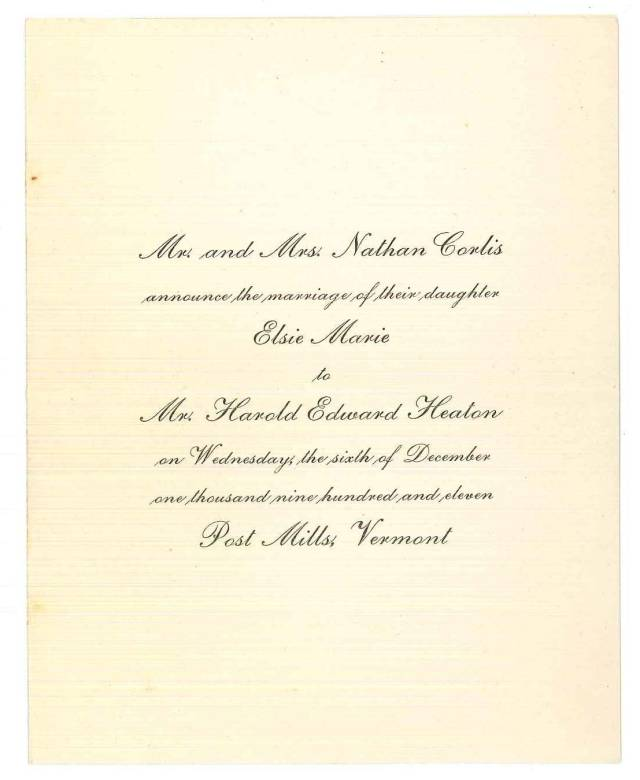 My great-grandparents' wedding invitation.