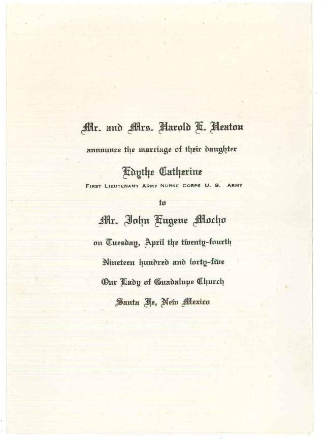 My grandparent's wedding invitation.