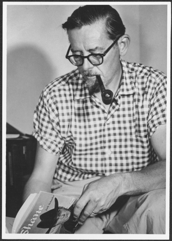 Jack Schaefer, 1959, University of Wyoming, American Heritage Center, Photofile: Schaefer, Jack, Negative Number 0816