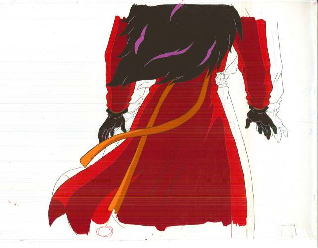 "Carmen Sandiego animation cell, from the TV cartoon ""Where on Earth is Carmen Sandiego,"" Box 386, Andrew Heyward papers, #12533. UW American Heritage Center."