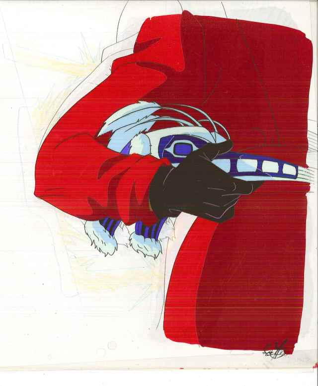 "Carmen Sandiego animation cell, from the TV cartoon ""Where on Earth is Carmen Sandiego,"" Box 387, Andrew Heyward papers, #12533. UW American Heritage Center."