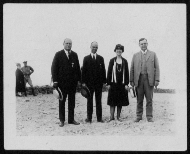 Nellie Tayloe Ross with her peers.  From left to right Governor Hamlet of Iowa, Governor Brewster of Maine, Governor N.T.R of Wyoming, and Governor Martin of Florida.  Nellie Tayloe Ross Papers, #948, Box 18, Folder 2. UW American Heritage Center.