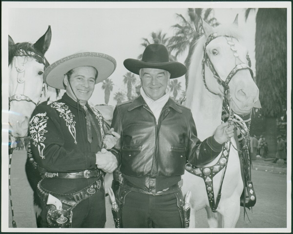 William Boyd, right, with Duncan Renaldo, left.