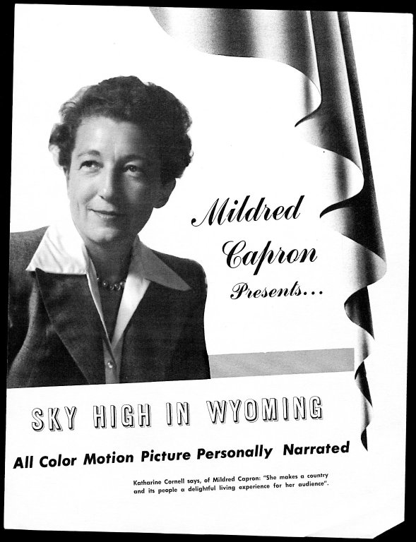 Mildred Stead Capron papers, #3470, Box 3, Folder 3. University of Wyoming, American Heritage Center.