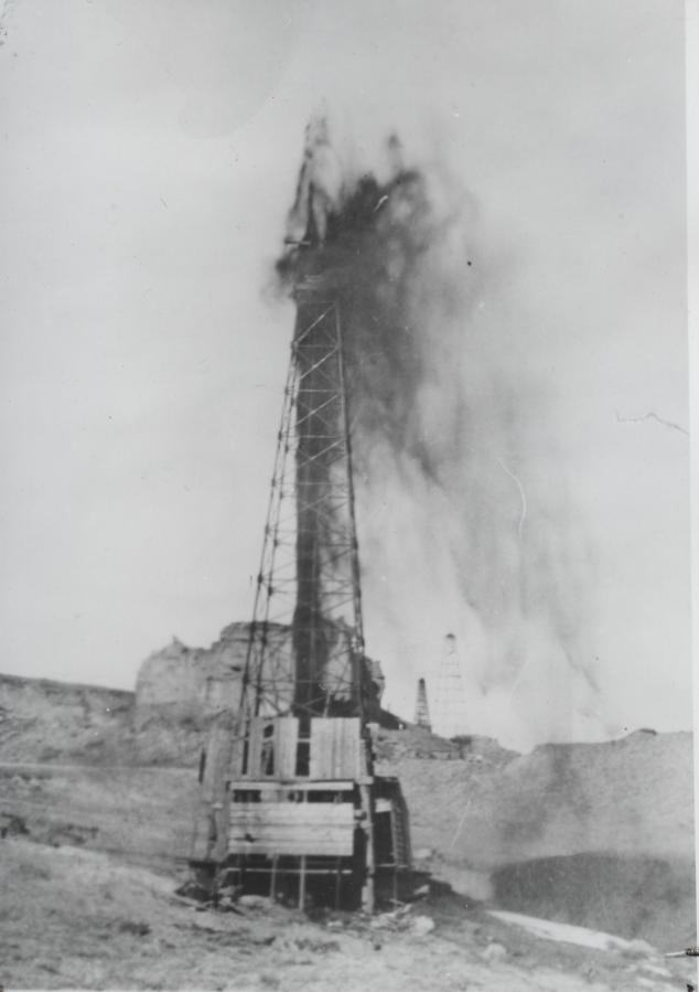 Teapot Dome oil field. Petroleum-Wyoming-Teapot Dome (Wyoming) Photograph File.