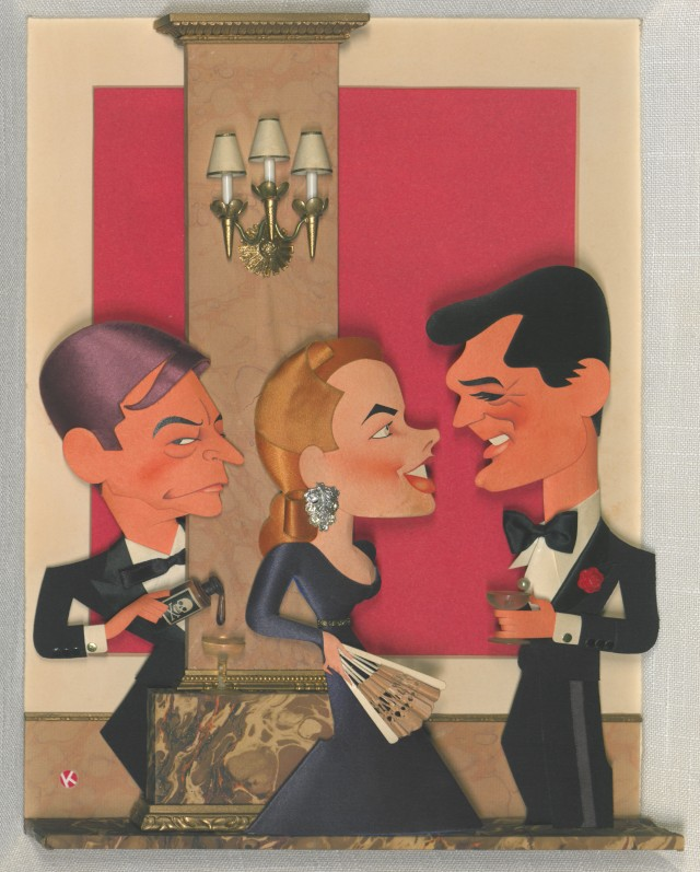Notorious with Cary Grant, Ingrid Bergman, and Claude Rains, 1946. Jacques Kapralik papers, #4064, Box 70. University of Wyoming, American Heritage Center.
