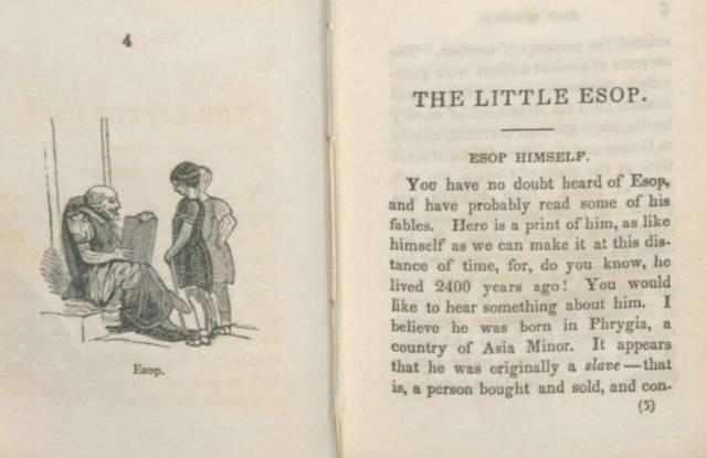 The Little Esop. Philadelphia: Smith & Peck, 1843. Fitzhugh Collection, Toppan Rare Books Library. University of Wyoming, American Heritage Center.