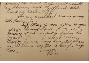 A page from the diary of Brice O'Brien.