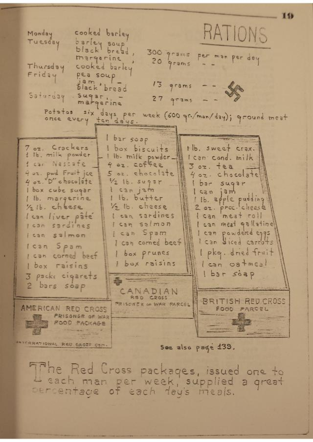 "A page from the diary of Robert Kenneth Cook, the ""Kriegie Kronicle""."
