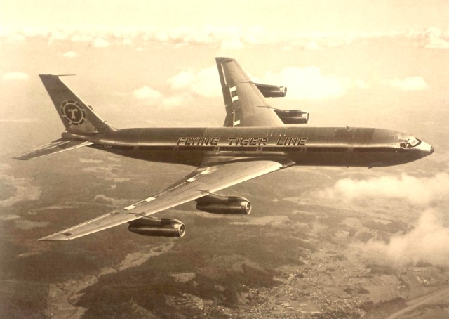 Boeing 707-349C flown on the Rockwell Polar Flight