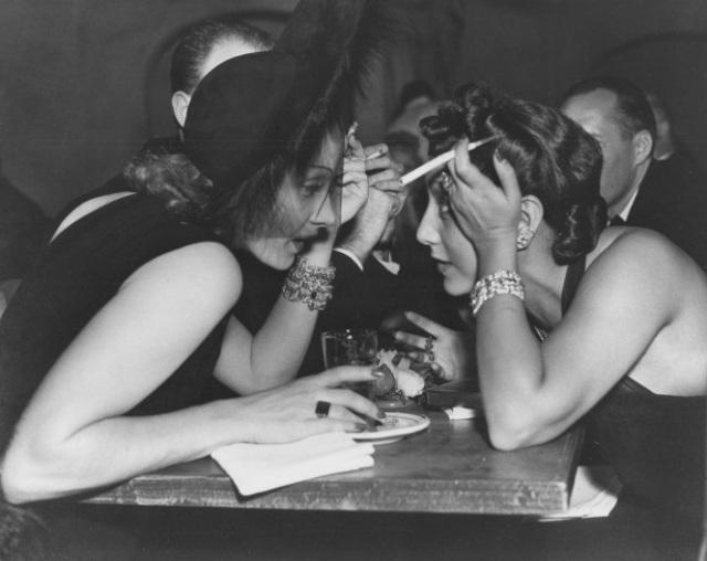 Marlene Dietrich and Ann Boyer Warner