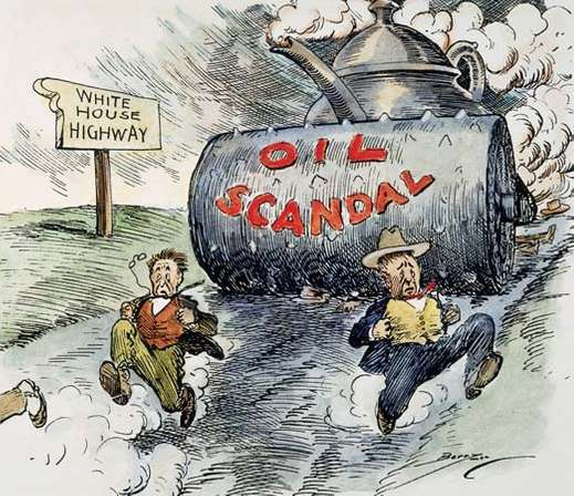 Teapot Dome scandal cartoon