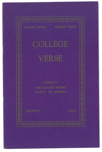 College Verse front cover